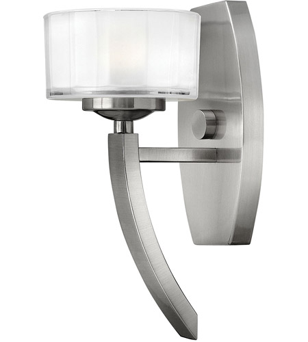 Hinkley Lighting Meridian 1 Light Sconce in Brushed Nickel 3870BN