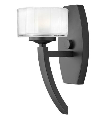 Hinkley Lighting Meridian 1 Light Sconce in Satin Black 3870SK photo
