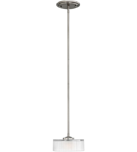 Hinkley Lighting Meridian 1 Light Mini-Pendant in Brushed Nickel 3877BN