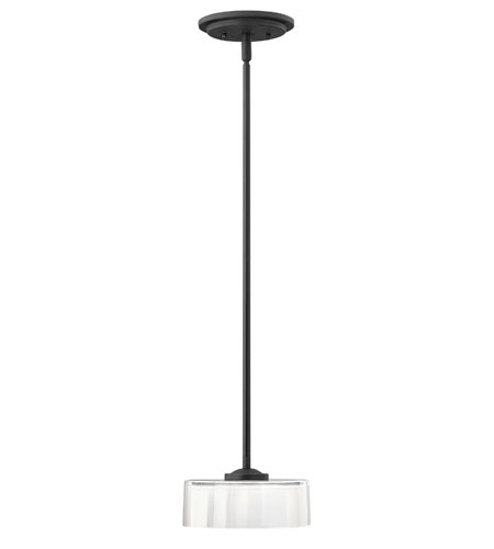 Hinkley Lighting Meridian 1 Light Mini-Pendant in Satin Black 3877SK