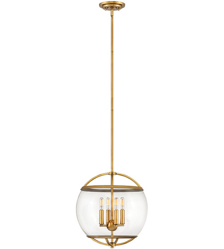 Hinkley 3934HB Calvin 4 Light 15 inch Heritage Brass Pendant Ceiling Light photo