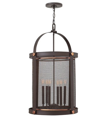Hinkley 3944KZ Holden 6 Light 20 inch Buckeye Bronze Hanging Foyer Ceiling Light photo