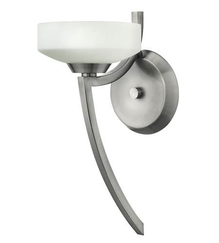 Hinkley Lighting Darien 1 Light Wall Sconce in Polished Antique Nickel 3960PL