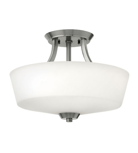 Hinkley Lighting Darien 3 Light Semi Flush in Polished Antique Nickel 3961PL photo