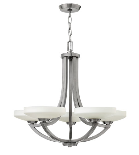 Hinkley Lighting Darien 5 Light Chandelier in Polished Antique Nickel 3965PL