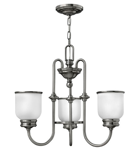 Hinkley Lighting Easton 3 Light Chandelier in Polished Antique Nickel 3983PL photo