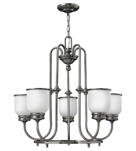 Hinkley Lighting Easton 5 Light Chandelier in Polished Antique Nickel 3985PL photo
