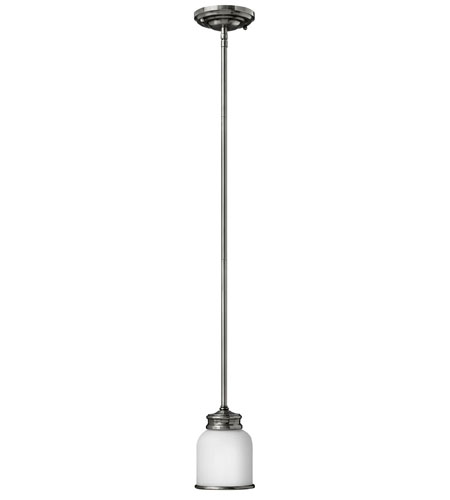 Hinkley Lighting Easton 1 Light Mini-Pendant in Polished Antique Nickel 3987PL photo