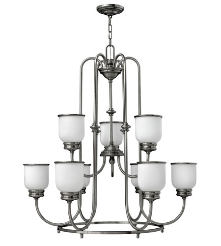 Hinkley Lighting Easton 9 Light Chandelier in Polished Antique Nickel 3988PL