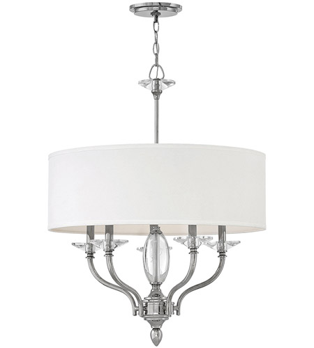 Hinkley 4005PN Surrey 5 Light 24 inch Polished Nickel Chandelier Ceiling Light photo thumbnail