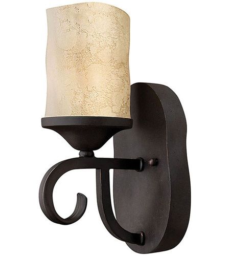 Hinkley 4010OL Casa 1 Light 5 inch Olde Black Sconce Wall Light in Antique Scavo photo