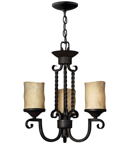 Hinkley Lighting Casa 3 Light Chandelier in Olde Black 4013OL photo