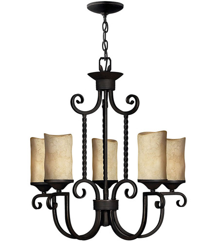Hinkley Lighting Casa 5 Light Chandelier in Olde Black 4015OL photo