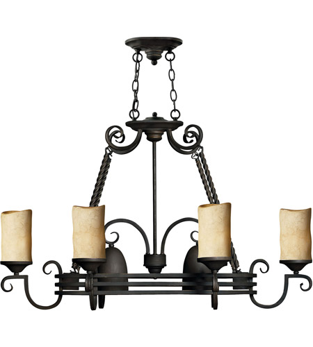 Hinkley 4016OL Casa 8 Light 38 inch Olde Black Chandelier Ceiling Light, Pot Rack photo