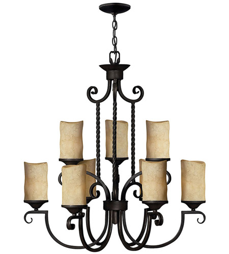 Hinkley 4018OL Casa 9 Light 29 inch Olde Black Foyer Chandelier Ceiling Light, 2 Tier photo