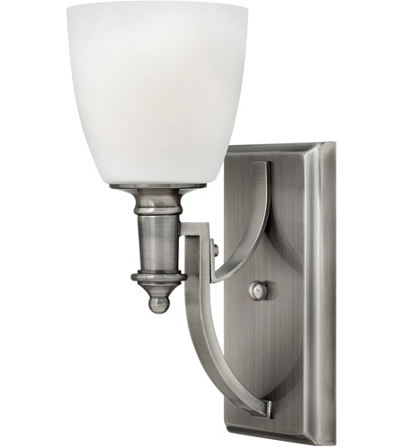 Hinkley 4020AN Truman 1 Light 5 inch Antique Nickel Sconce Wall Light, Etched Opal Glass photo