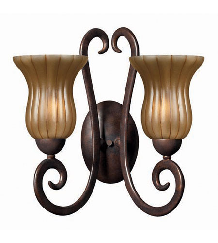 Hinkley Flat Iron 2Lt Sconce in Chocolate 4032CH