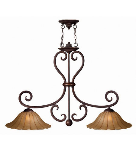 Hinkley Flat Iron Island 2Lt Chandelier in Chocolate 4034CH photo