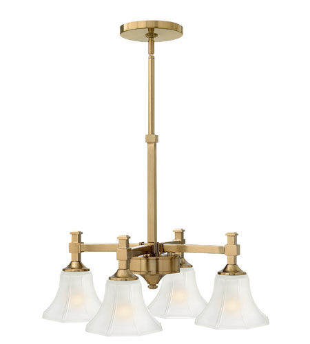 Hinkley Lighting Abbie 4 Light Chandelier in Brushed Caramel 4044BC