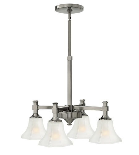 Hinkley Lighting Abbie 4 Light Chandelier in Brushed Nickel 4044BN photo