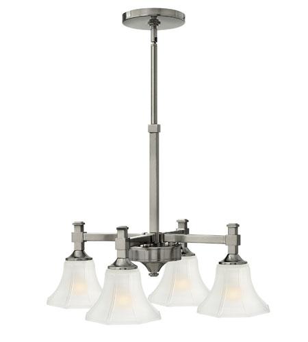 Hinkley Lighting Abbie 4 Light Chandelier in Brushed Nickel 4044BN