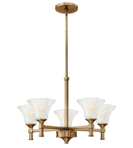 Hinkley Lighting Abbie 5 Light Chandelier in Brushed Caramel 4045BC