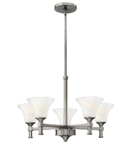 Hinkley Lighting Abbie 5 Light Chandelier in Brushed Nickel 4045BN photo
