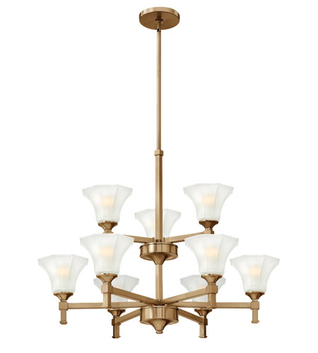 Hinkley Lighting Abbie 9 Light Chandelier in Brushed Caramel 4048BC photo
