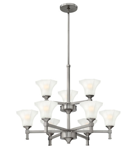 Hinkley Lighting Abbie 9 Light Chandelier in Brushed Nickel 4048BN