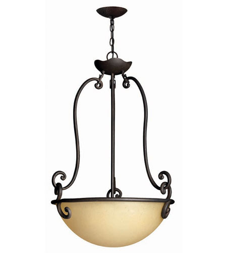 Hinkley Lighting Gold Hill 3 Light Hanging Foyer in Olde Black 4052OL photo