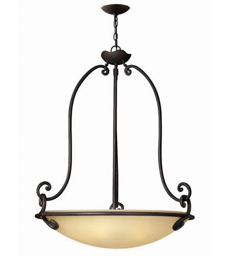 Hinkley Lighting Gold Hill 5 Light Hanging Foyer in Olde Black 4054OL photo