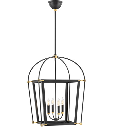 Hinkley 4055bk Selby 4 Light 20 Inch Black Chandelier