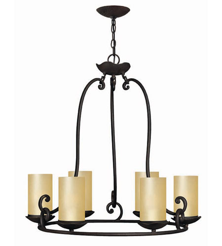 Hinkley Lighting Gold Hill 6 Light Chandelier in Olde Black 4056OL photo
