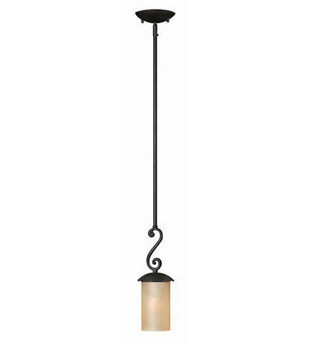 Hinkley Lighting Gold Hill 1 Light Mini-Pendant in Olde Black 4057OL photo