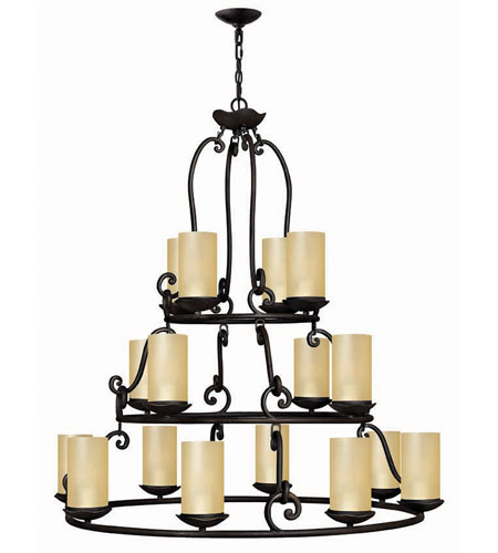 Hinkley Lighting Gold Hill 16 Light Chandelier in Olde Black 4059OL photo