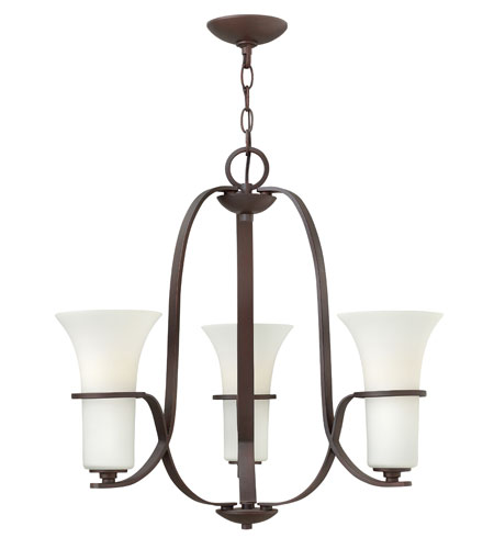 Hinkley Lighting Lauren 3 Light Chandelier in Victorian Bronze 4063VZ