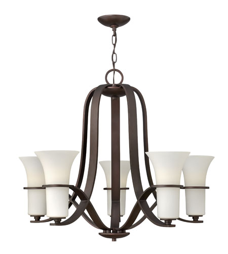 Hinkley Lighting Lauren 5 Light Chandelier in Victorian Bronze 4065VZ photo