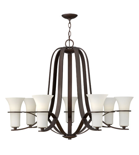 Hinkley Lighting Lauren 7 Light Chandelier in Victorian Bronze 4068VZ
