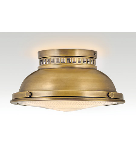 Hinkley 4081HB Emery 2 Light 13 inch Heritage Brass Flush Mount Ceiling Light alternative photo thumbnail