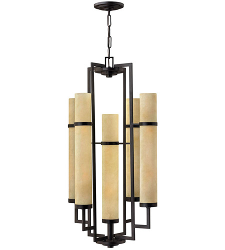 Hinkley Lighting Cordillera 10 Light Hanging Foyer in Rustic Iron 4099RI