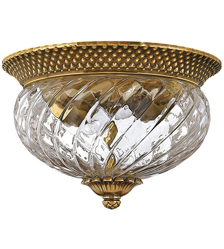 Hinkley Lighting Plantation 2 Light Flush Mount in Burnished Brass 4102BB