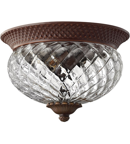 Hinkley 4102CB Plantation 2 Light 12 inch Copper Bronze Foyer Flush Mount Ceiling Light photo