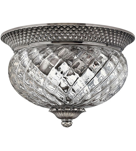 Hinkley Lighting Plantation 2 Light Flush Mount in Polished Antique Nickel 4102PL