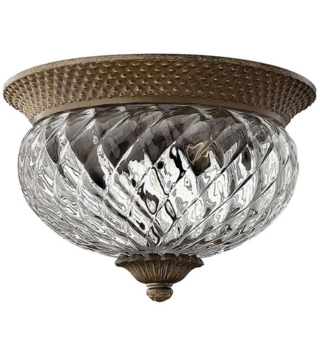 Hinkley 4102PZ Plantation 2 Light 12 inch Pearl Bronze Bath Flush Mount Ceiling Light photo