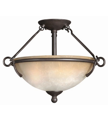 Hinkley Lighting Portofino 3 Light Semi Flush in Victorian Bronze 4111VZ photo