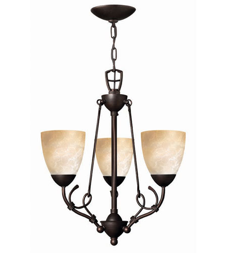 Hinkley Lighting Portofino 3 Light Chandelier in Victorian Bronze 4113VZ
