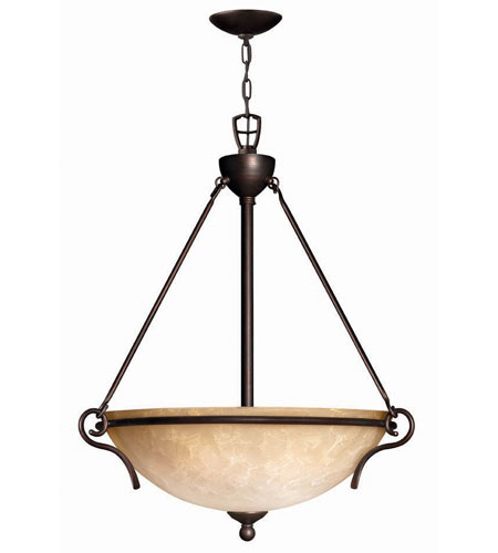 Hinkley Lighting Portofino 3 Light Hanging Foyer in Victorian Bronze 4114VZ