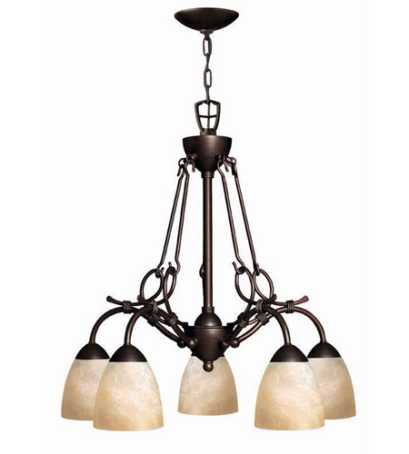 Hinkley Lighting Portofino 5 Light Chandelier in Victorian Bronze 4115VZ