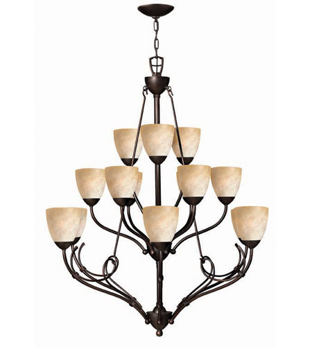 Hinkley Lighting Portofino 15 Light Chandelier in Victorian Bronze 4119VZ
