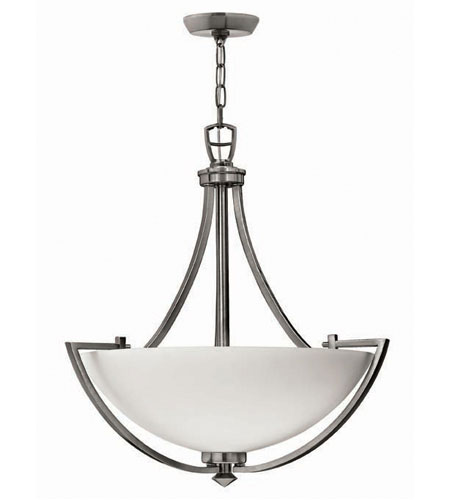 Hinkley Soho Pendant 3Lt Foyer in Polished Antique Nickel 4122PL photo